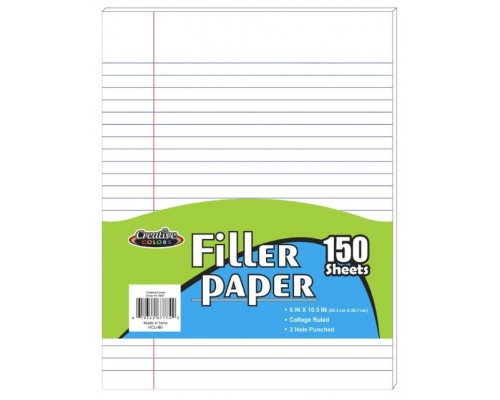 C/R School Notebook Paper $1.39 Each.