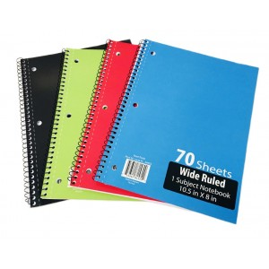 1 Subject W/R Spiral Notebooks