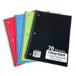 1 Subject C/R Spiral Notebooks