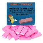 Pink Wedge Bulk Erasers