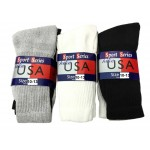 Men's/Boys Crew Socks 10-13  $8.00 Each Dz.