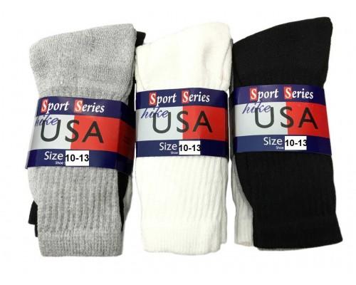 Men's/Boys Crew Socks 10-13  $8.00 Each Dz.