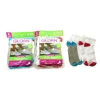 GILDAN Ankle Socks Size 4-10