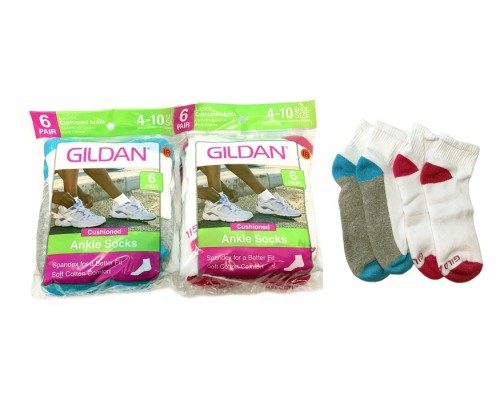GILDAN Women's Ankle Socks Size 4-10