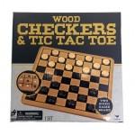 Wood Checkers & Tic Tac Toe $5.50 Each.