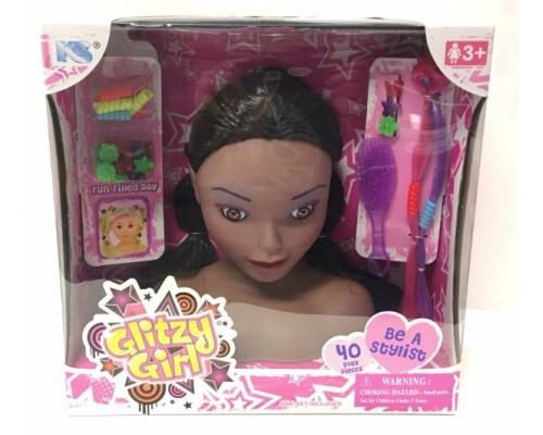 """7"""" Glitzy Girl African American"""