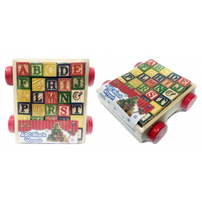 ABC Wooden Block Wagon