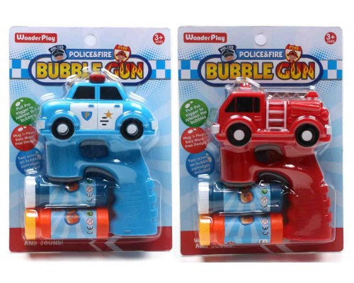 Bubble Guns Fire Engine & Police Car  $4.50 Each.
