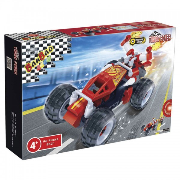 Friction Booster Race Car Set