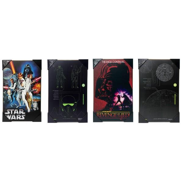 Star Wars Wall-Art Set of 4