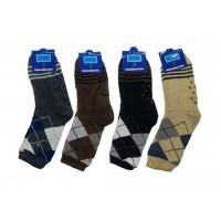 Men's Knit Sherpa Lined Slipper Socks