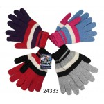 Ladies Stripe Knit Gloves $0.89 Each.