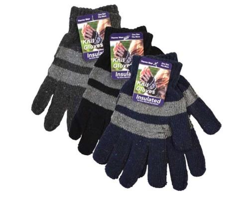 Men's/Boys Knitted Gloves $0.89 Each.