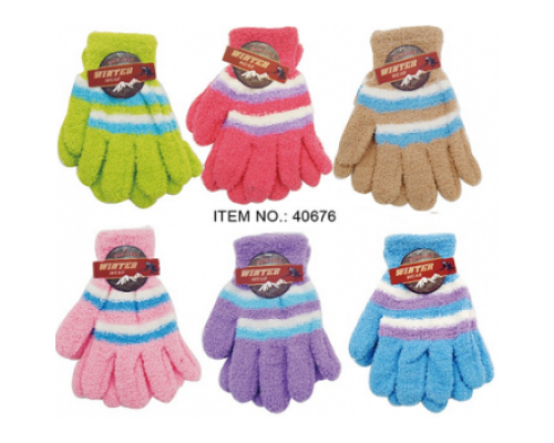 Girls Ladies Winter Gloves $0.79 Each.