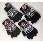 Men's Thick Fur Lined Glove w/ Flake $1.49 Each