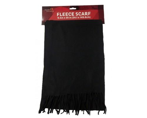 Polar Fleece Black Scarfs