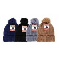 Boy's Winter Hats with Pom Pom