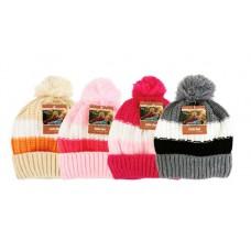 Girl's Winter Hats with Pom Pom
