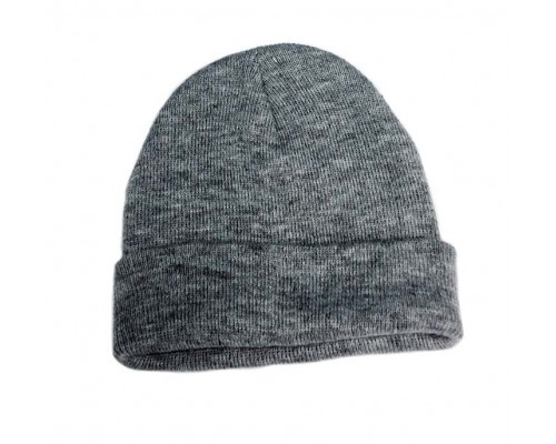 Light Grey Heavy Weight Knit Hat