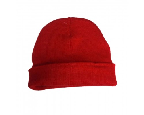 Red Heavy Weight Knit Hat