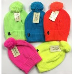 Neon Winter Hat w/ Pom $1.39 Each.