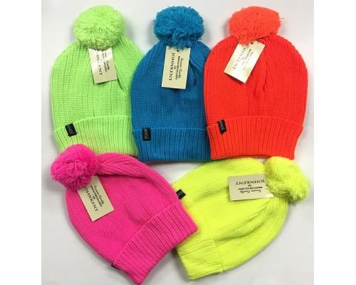Neon Winter Hat w/ Pom $1.39 Each.
