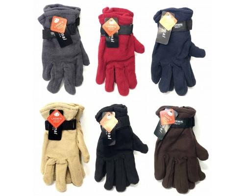 Ladies Fleece Gloves $1.29 Each.