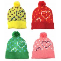 Deluxe Ladies/Girls Winter Hat w/ Pom