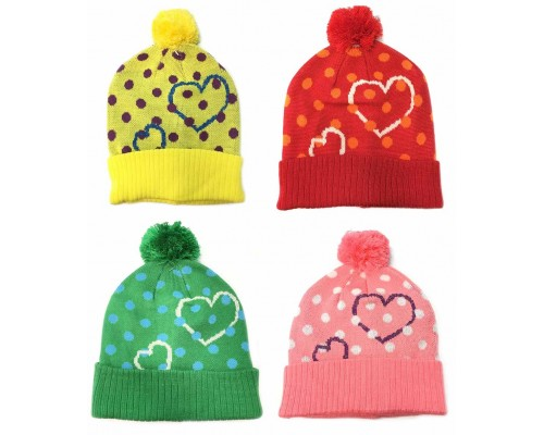 Deluxe Ladies/Girls Winter Hat w/ Pom $2.59 Each.