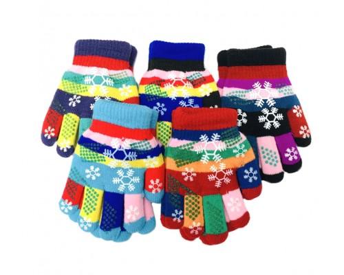 Snowflake Grip Kids Winter Gloves